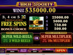 High Society freeslots-77.com Microgaming 2/5