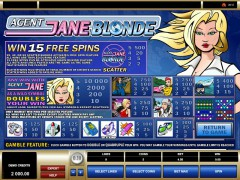 Agent Jane Blonde freeslots-77.com Microgaming 2/5