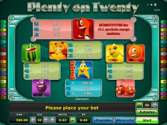 Plenty on twenty freeslots-77.com Gaminator 2/5