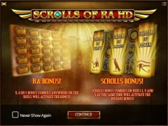 Scrolls Of Ra HD - iSoftBet
