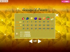 Golden7Fruits freeslots-77.com MrSlotty 5/5