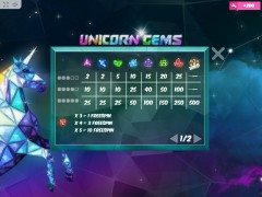 Unicorn Gems freeslots-77.com MrSlotty 3/5